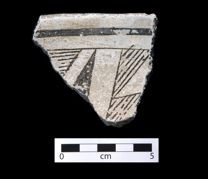 Mimbres Black-on-white (Style III) Sherd