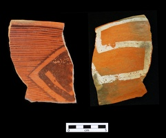 St Johns Polychrome Sherd, Interior and Exterior