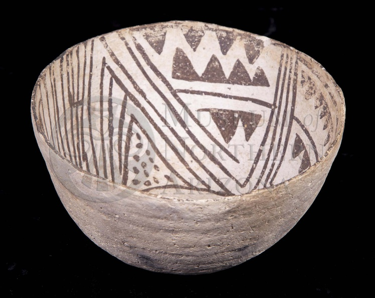 White Mound Black-on-white Bowl