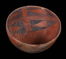 Medicine Black-on-red Bowl