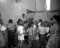 Students on a tour inside Casa Grande in 1956