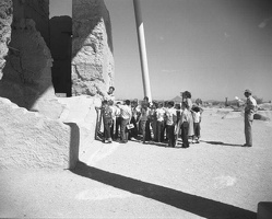 Students on a guided tour in 1956