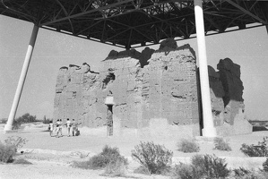 The west wall of the Great House in 1957