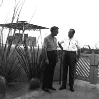 Superintendent Harry Linder and NPS Director G. Hartzog, 1968