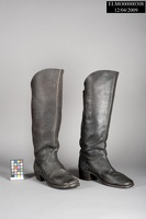 Black Leather Cavalry Boots