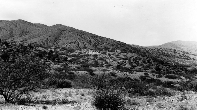 Distant View of Fort Bowie Ruins, 1935