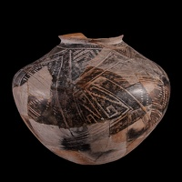 Kayenta Black-on-white Jar/Olla, Alternate View