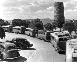 Fred Harvey Tour Buses, ca. 1938