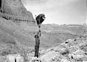 Working on the Trans-Canyon Line, ca. 1935
