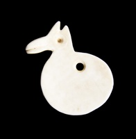 Round Shell Bird Pendant