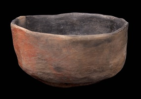 Tuzigoot Red Smudged Bowl, Alternate View