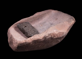 Sandstone Metate and Basalt Mano