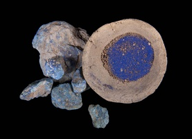 Raw Azurite and Azurite Pigment