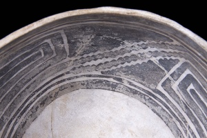 Tusayan Black-on-White Bowl, Alternate View