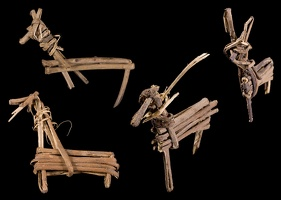 Split-twig figurines