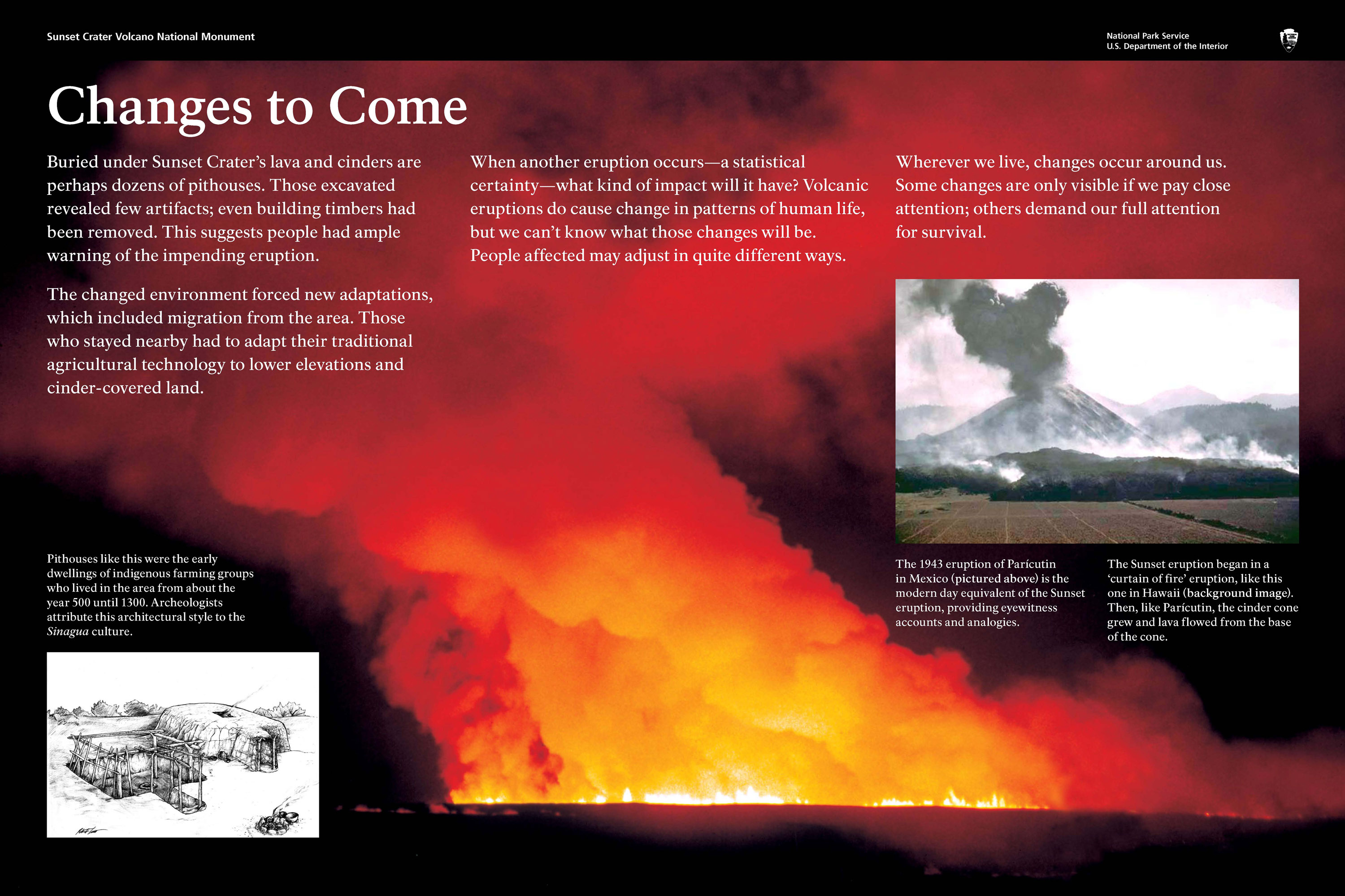 The eruption of Sunset Crater impacted prehistoric lives and caused adaptation, including migration