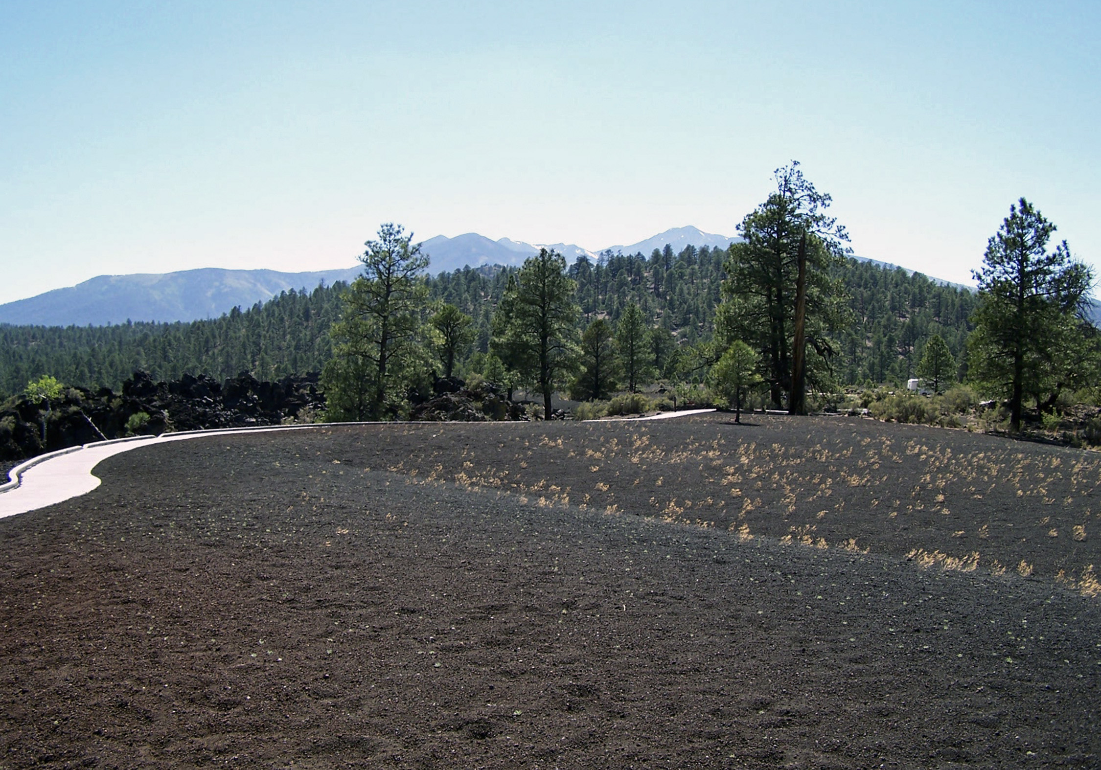 The San Francisco Peaks are the remnants of a stratovolcano