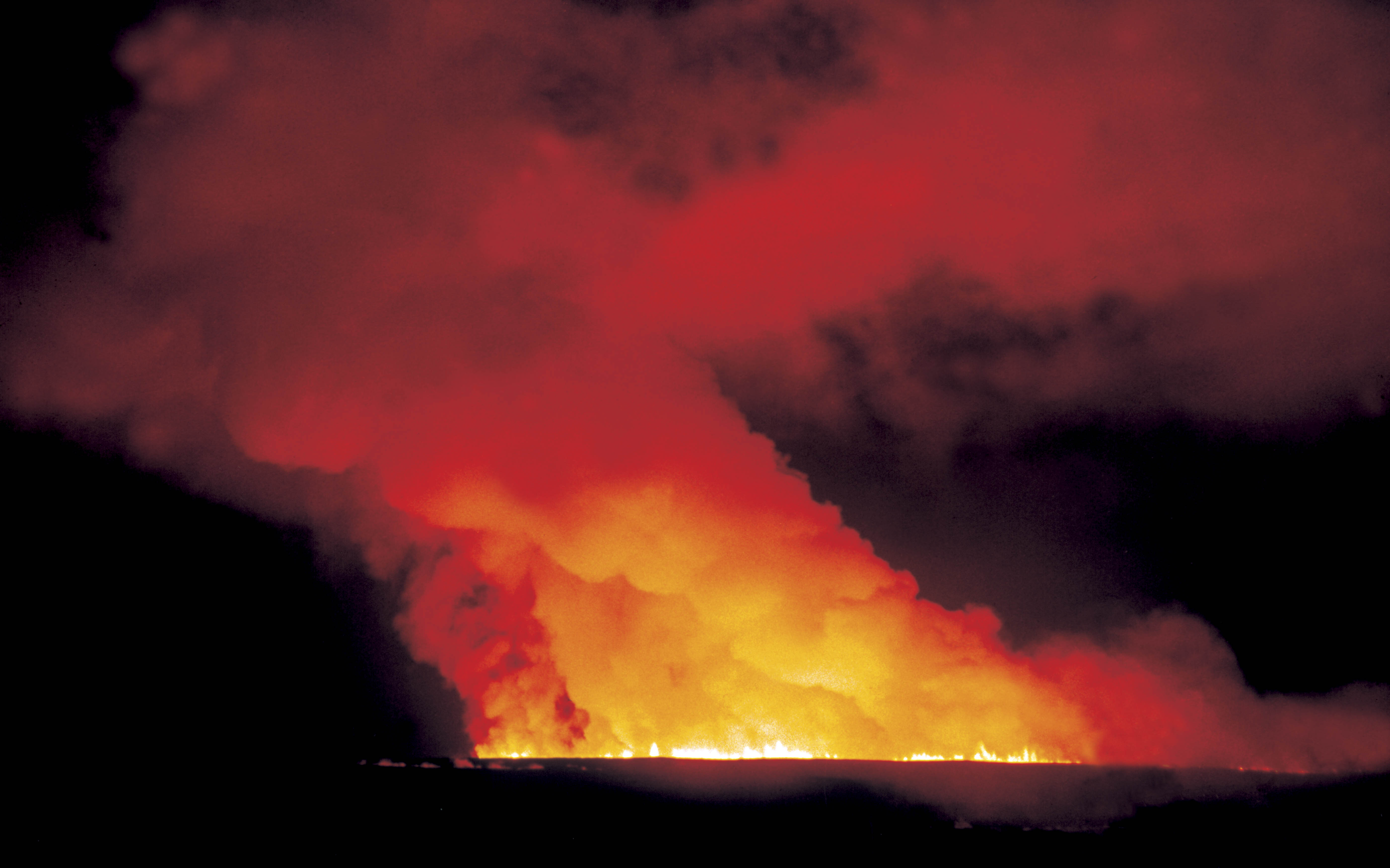 The curtain of fire from the Sunset Crater volcano eruption would have been visible at great distances