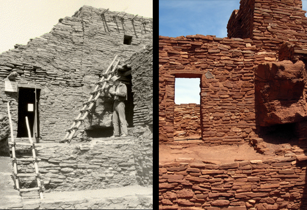 Room 73, reconstructed to serve as an office and museum in the 1930s and later restored, Wupatki Pueblo