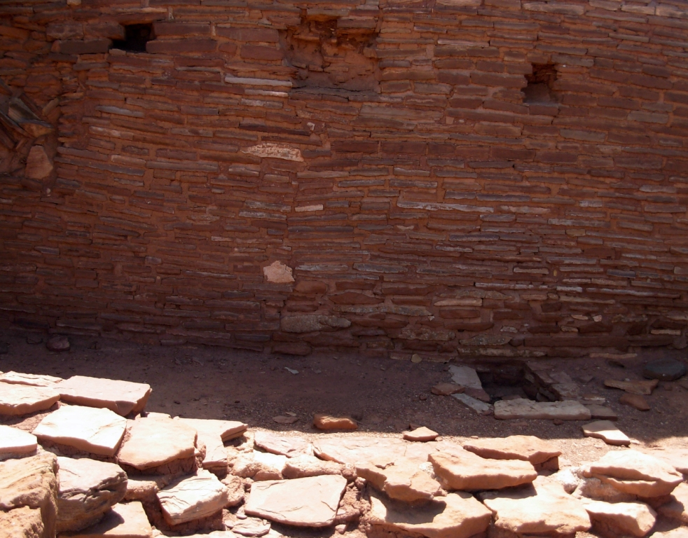 Sealed doorways at Wupatki Pueblo