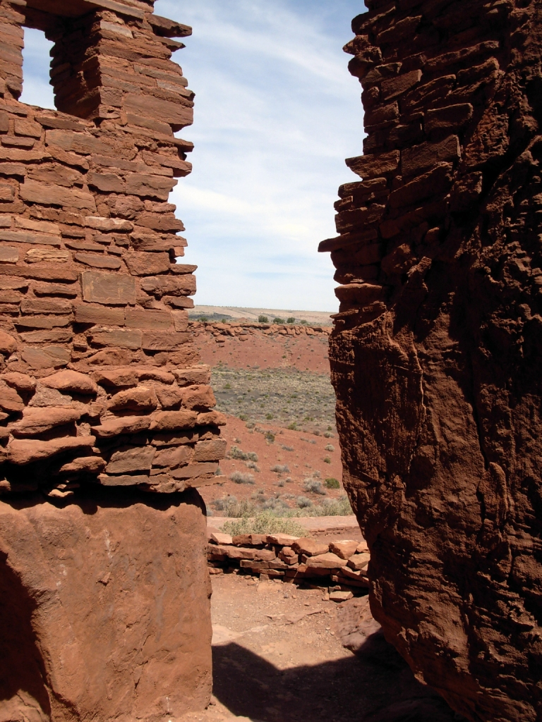 Looking out from a room at Wupatki Pueblo