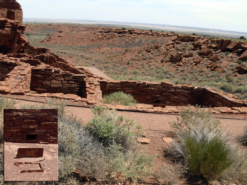 Size difference between residential room and possible kiva, Wupatki Pueblo