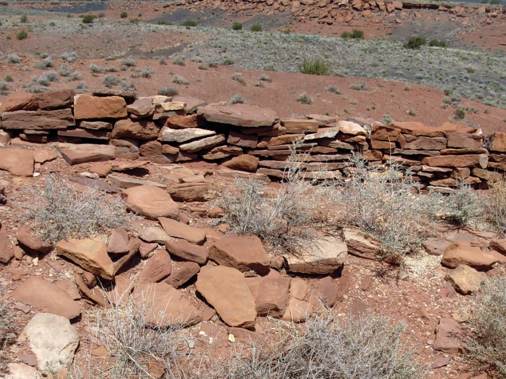 Unexcavated section of Wupatki Pueblo