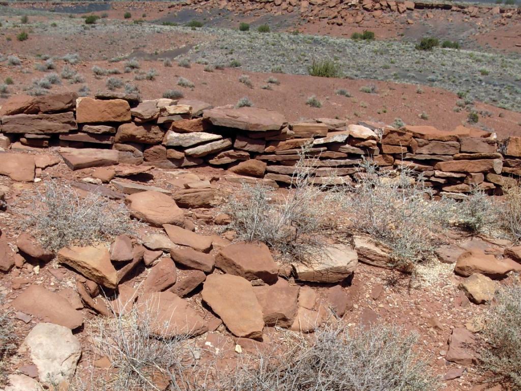 Unexcavated section of Wupatki Pueblo