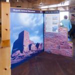Displays inside Wupatki Pueblo's Visitor Center