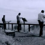 Men viewing waystands, Coronado National Memorial