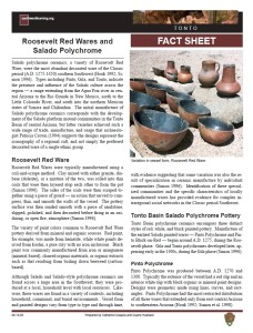 Roosevelt Red Wares/Salado Polychrome fact sheet
