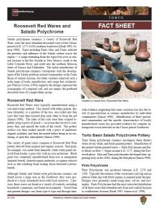Roosevelt Red Wares/Salado Polychrome fact sheet