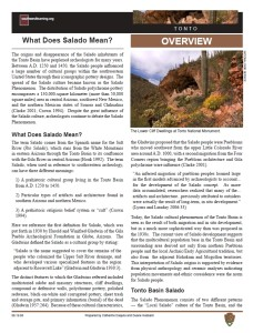 What Does Salado Mean? fact sheet