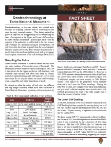 Tonto Dendrochronology fact sheet