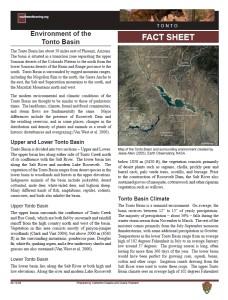 Tonto Basin Environment fact sheet