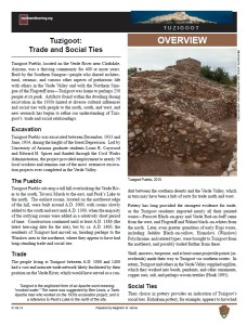 Trade and Social Ties, Tuzigoot, fact sheet