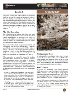 Castle A, Montezuma Castle fact sheet