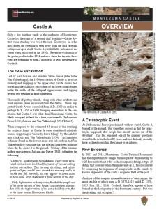 Castle A, Montezuma Castle fact sheet