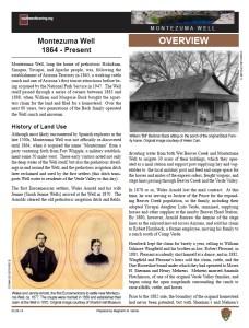 History of Montezuma Well fact sheet