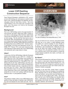 Construction Sequence, Lower Cliff Dwelling fact sheet