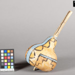 Gourd rattle with painted decoration