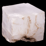 Crystalline cube of salt