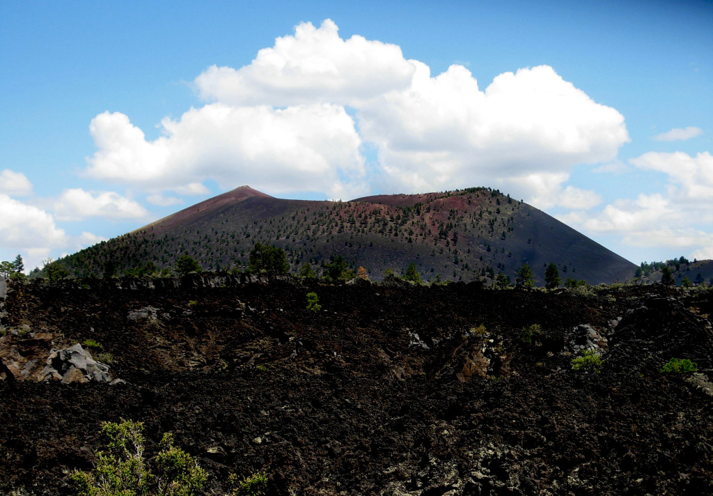 Sunset Crater. Photo Credit: Meghann M. Vance, Northern Arizona University Anthropology Laboratories, 2012. Click the image to open the Sunset Crater Volcano NM gallery.