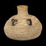 Paiute basket with horse hair handles