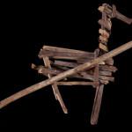 Split-twig figurine