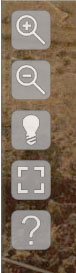 Control panel icons for Reflectance Transformation Imaging (RTI) viewer
