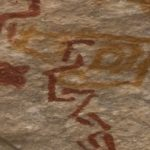 Sinagua pictographs, Walnut Canyon